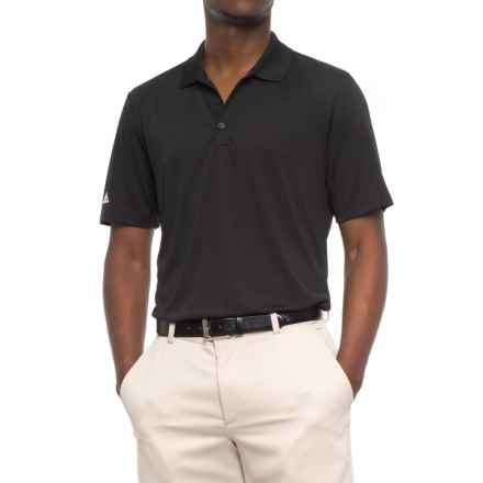 adidas High-Performance Polo Shirt - UPF 30, Short Sleeve (For Men) in Black - Closeouts