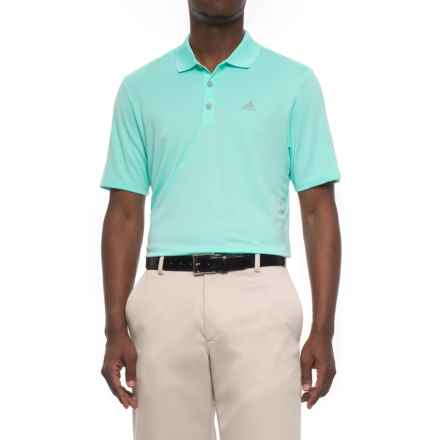 adidas High-Performance Polo Shirt - UPF 30, Short Sleeve (For Men) in Energy Aqua - Closeouts