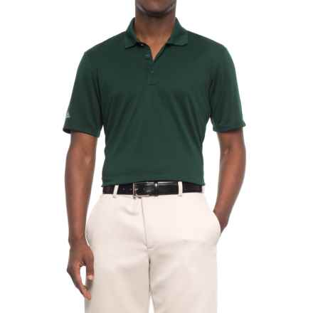 adidas High-Performance Polo Shirt - UPF 30, Short Sleeve (For Men) in Mid Green - Closeouts