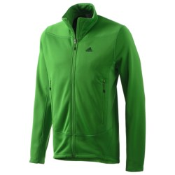 Adidas Hiking 1-Side Fleece Jacket (For Men) in Real Green
