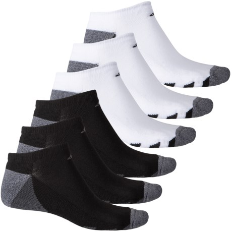 timeless design 03ae5 10c5f adidas HL 3-Stripe No Show Socks - 6-Pack Below the Ankle (