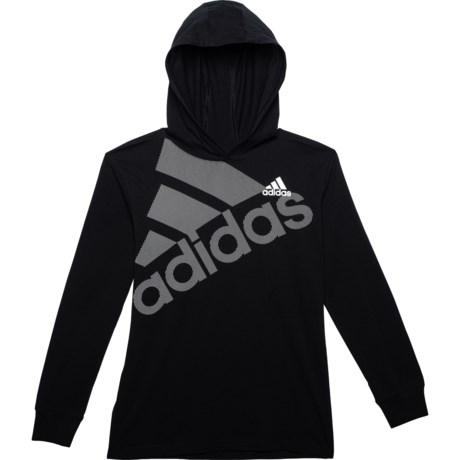 adidas Hooded Logo T-Shirt (For Big Boys) - Save 50%