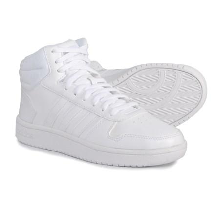 adidas Hoops 2.0 Mid Sneakers (For Women) in Footwear White Footwear White  0bcd5f113