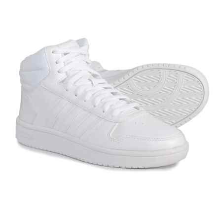 adidas Hoops 2.0 Mid Sneakers (For Women) in Footwear White/Footwear White/Grey One - Closeouts