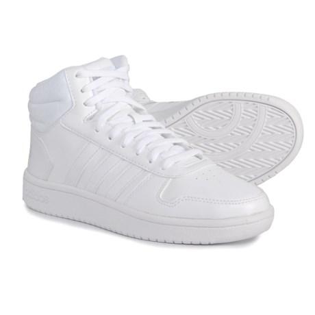 adidas Hoops 2.0 Mid Sneakers (For Women) in Footwear White Footwear White  297b25c3ca
