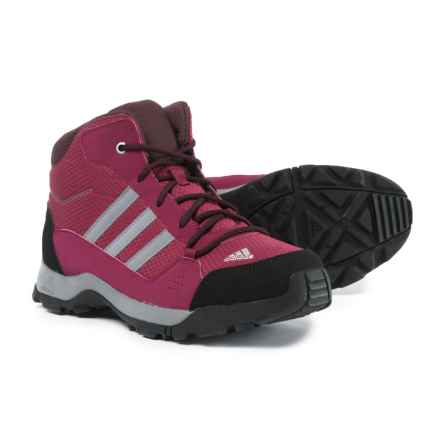 adidas Hyperhiker Hiking Boots (For Big and Little Girls) in Mystery Ruby/Grey Three/Dark Burgundy - Closeouts