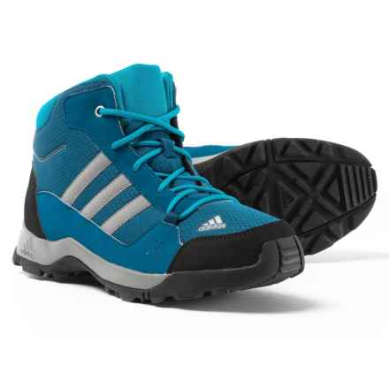 adidas Hyperhiker Hiking Boots (For Big and Little Kids) in Blue Night/Grey Three/Mystery Petrol - Closeouts