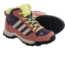 adidas Hyperhiker Mid Trail Shoes (For Little and Big Kids) in Ash Purple/Black/Raw Pink - Closeouts