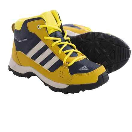 adidas Hyperhiker Mid Trail Shoes (For Little and Big Kids) in Midnight Grey/Black/Raw Ochre - Closeouts