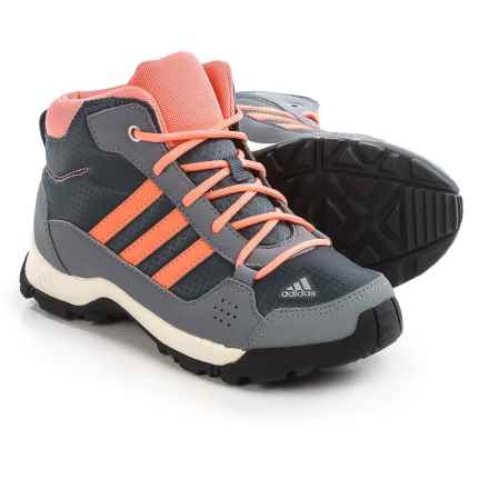 adidas Hyperhiker Mid Trail Shoes (For Little and Big Kids) in Onix/Sun Glow/Grey - Closeouts