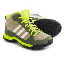 adidas Hyperhiker Mid Trail Shoes (For Little and Big Kids) in Tech Beige/Black/Semi Solar Yellow - Closeouts
