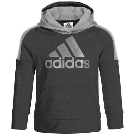 adidas Indicator Hoodie (For Infants and Little Boys) in Black Heather - Closeouts