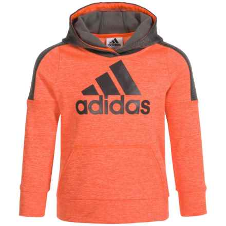 adidas Indicator Hoodie (For Infants and Little Boys) in Br Red Heather - Closeouts