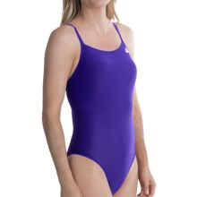 adidas Infinitex® High-Performance Swimsuit - Vortex Back (For Women) in Blue - Closeouts