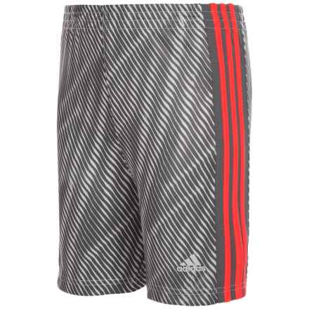 adidas Influencer Shorts (For Little Boys) in Grey - Closeouts