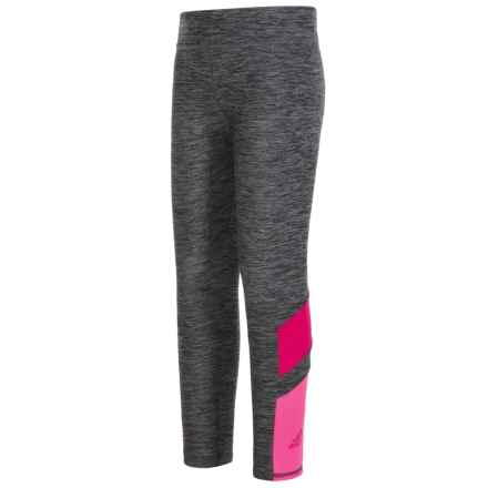 adidas Invincible Tights (For Little Girls) in Grey/Pink - Closeouts