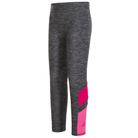 adidas Invincible Tights (For Little Girls) in Grey/Pink