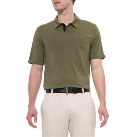 4b918498df9c adidas Johnny Collar Polo Shirt - Short Sleeve (For Men) in Olive Carbon -