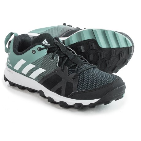 adidas Kanadia 8 Trail Running Shoes (For Women) in Black/White/Vapour Steel