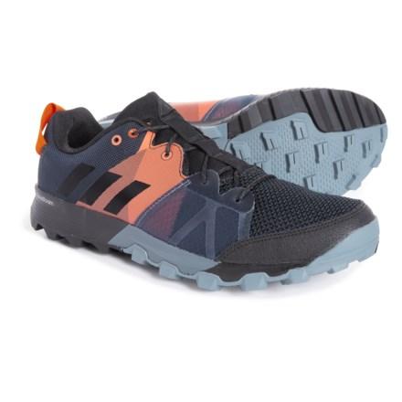 8b21afff310a adidas Kanadia 8.1 Trail Running Shoes (For Men) in Carbon Black Orange