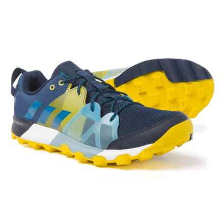 adidas Kanadia 8.1 Trail Running Shoes (For Men) in Collegiate Navy/Mystery Petrol/Eqt Yellow - Closeouts