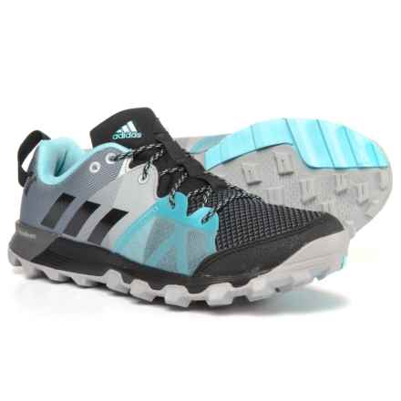 adidas Kanadia 8.1 Trail Running Shoes (For Women) in Black/Black/Icey Blue - Closeouts