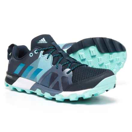 adidas Kanadia 8.1 Trail Running Shoes (For Women) in Collegiate Navy/Mystery Petrol/Energy Aqua - Closeouts