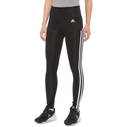 4f8ccb57663 adidas KI 3 Stripe Ankle Tights (For Women) in Black/White - Closeouts