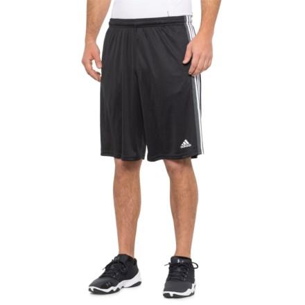 c85f5d8e0e5 adidas KI 3-Stripe Shorts (For Men) in Black/White - Closeouts