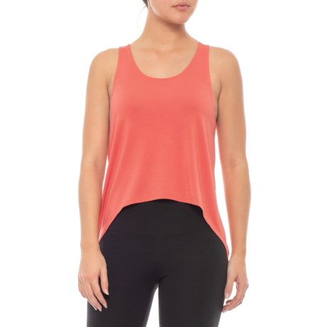 76665f176d3ed adidas Knot Tank Top (For Women) in Trace Scarlet S18
