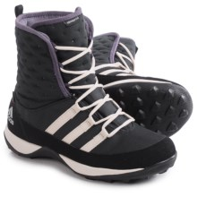 adidas Libria Pearl Snow Boots - Waterproof, Insulated (For Little and Big Kids) in Black/Ash Purple/Clear Brown - Closeouts
