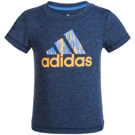 adidas Logo Athletic T-Shirt - Short Sleeve (For Toddlers) in Navy Heather - Closeouts