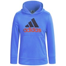 adidas Logo Hooded Sweatshirt (For Little Boys) in Blue - Closeouts