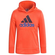 adidas Logo Hooded Sweatshirt (For Little Boys) in Orange - Closeouts