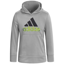 adidas Logo Hooded Sweatshirt (For Little Boys) in Silver Grey - Closeouts