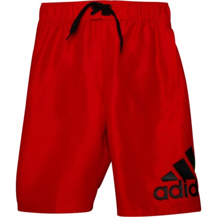 823fa96e4ee57 adidas Logo Mania Swim Trunks - Red (For Big Boys) in Red - Closeouts
