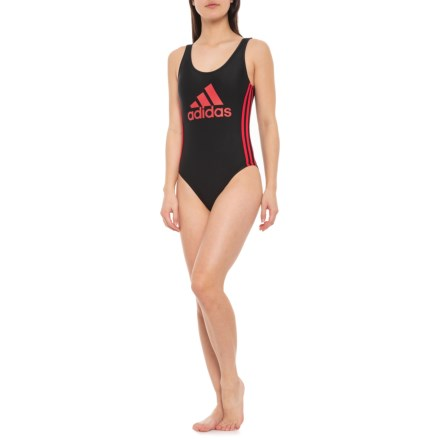 812f305931 adidas Logo One-Piece Swimsuit (For Women) in Black