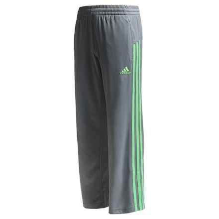 adidas Loose Core Pants (For Big Boys) in Grey/Flash Green - Closeouts