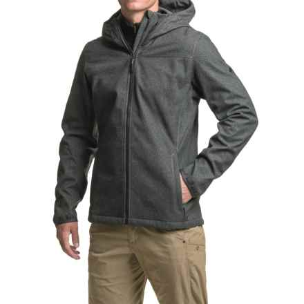 adidas Luminaire Hooded Jacket - Soft Shell (For Men) in Black - Closeouts