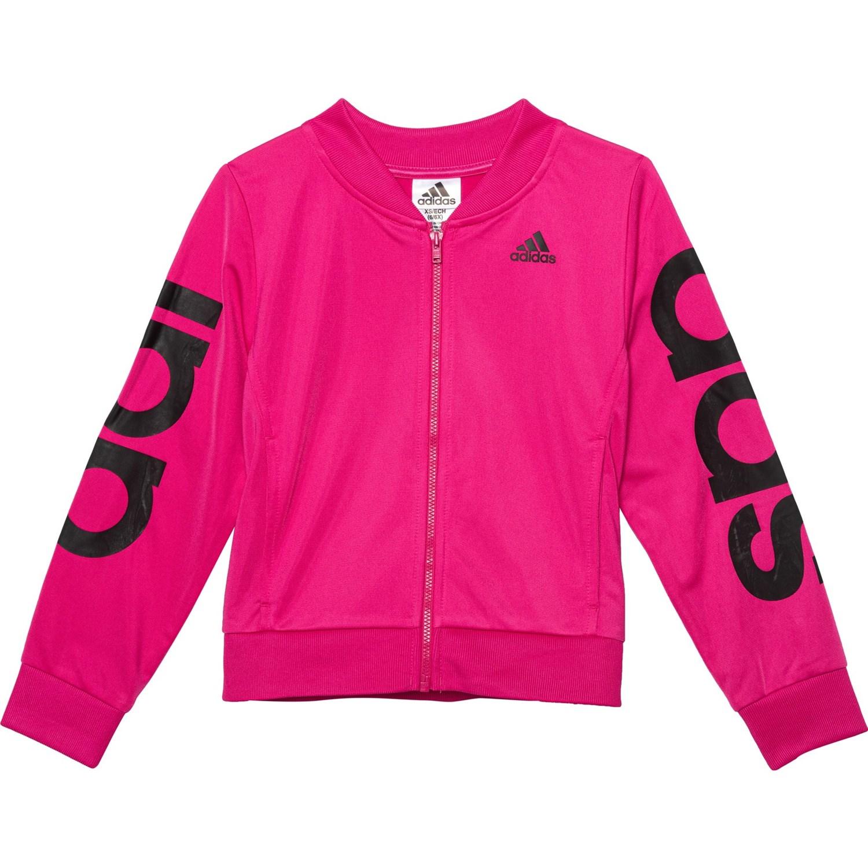 adidas Girls' Big Bomber Jacket, Magenta