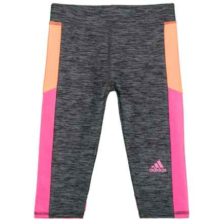 adidas Match Point Melange Capris (For Toddler and Little Girls) in Grey/Pink - Closeouts
