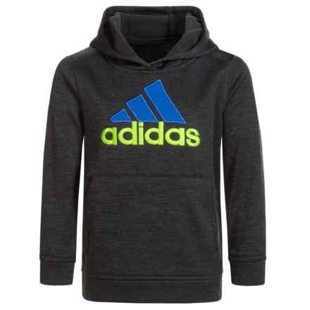 adidas Melange Hoodie (For Big Boys) in Black - Closeouts