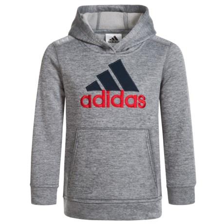 adidas Melange Hoodie (For Big Boys) in Grey W/Blue