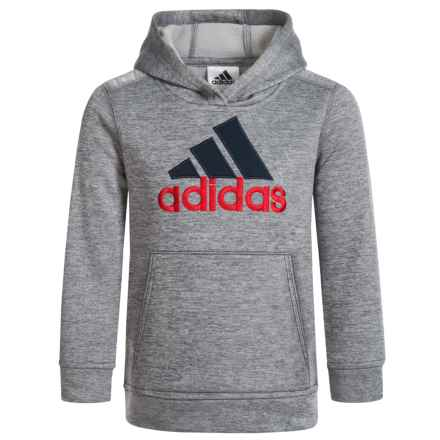 adidas Melange Hoodie (For Little Boys) in Ah48 Grey W/Blue - Closeouts