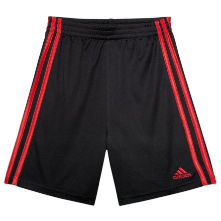 17268caa16e adidas Mesh Shorts (For Little Boys) in Black W Scarlet - Closeouts