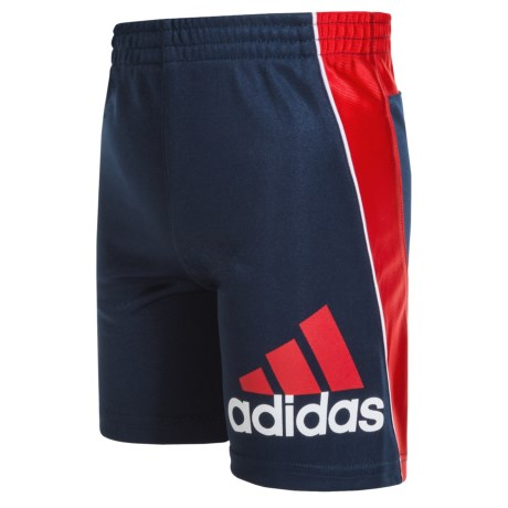 adidas Midfielder Athletic Shorts (For Little Boys) in Navy/Red