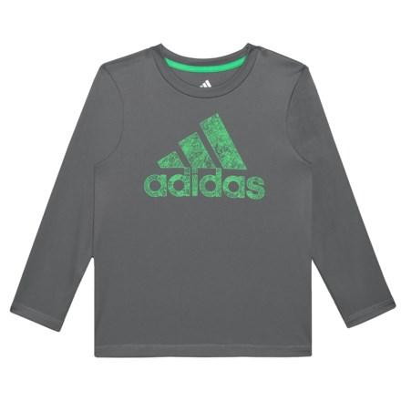 6c1b1e15d7b2 adidas Motivation Logo T-Shirt - Long Sleeve (For Little Boys) in Dark