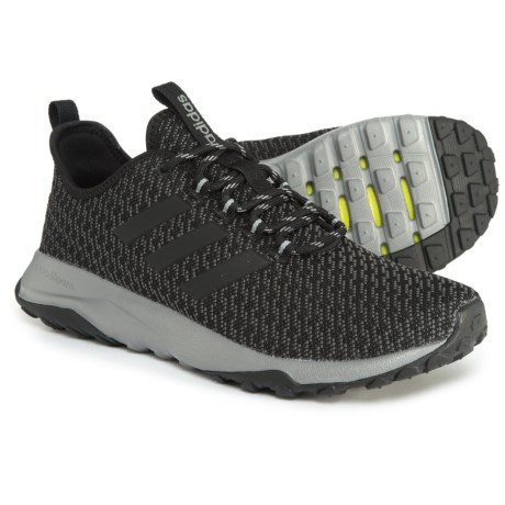 adidas Neo Cloudfoam® Superflex Trail Running Shoes (For Men) in Core Black/Core Black/Grey
