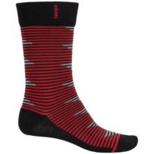 adidas Neo Geo Zigzag Socks - Crew (For Men) in Black/Scarlet/Light Onix/Midnight - Closeouts