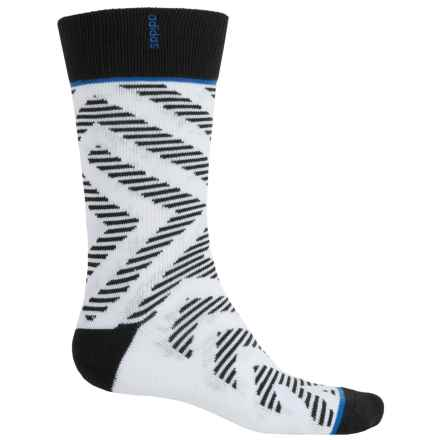 adidas Neo Socks - Crew (For Men) in White/Black/Blue - Closeouts